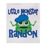 Little Monster Randon Throw Blanket