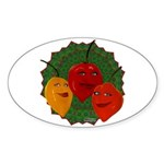 Tres Habaneras Sticker (Oval 10 pk)