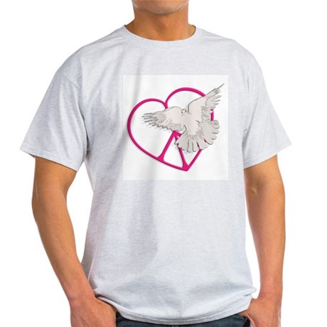 Peace Heart Dove Men's Light T-Shirt