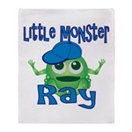 Little Monster Ray Throw Blanket