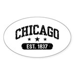 Chicago Est.1837 Sticker (Oval)