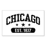 Chicago Est.1837 Sticker (Rectangle)