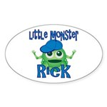 Little Monster Rick Sticker (Oval)