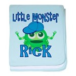Little Monster Rick baby blanket
