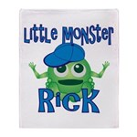Little Monster Rick Throw Blanket