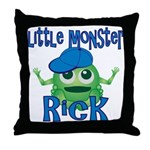 Little Monster Rick Throw Pillow