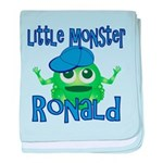 Little Monster Ronald baby blanket