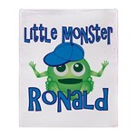Little Monster Ronald Throw Blanket