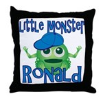 Little Monster Ronald Throw Pillow