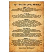 Cute The rules of writing Wall Art