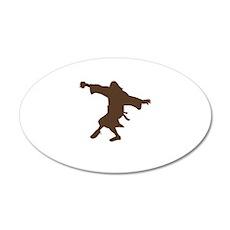 Dancing Dude 22x14 Oval Wall Peel
