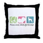 Peace, Love, Italian Greyhounds Throw Pillow