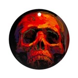Red Skull ornament by BAXA