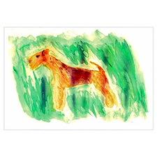Watercolor Lakeland Terrier