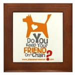 Keep Your Friend on a Chain? Framed Tile