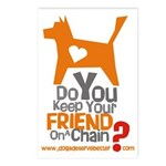 Keep Your Friend on a Chain? Postcards (Package of