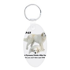 Great Pyrenees Potato Chip Keychains