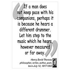 Thoreau Drummer Quote