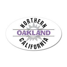 Oakland California 38.5 x 24.5 Oval Wall Peel