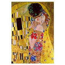 Gustav Klimt The Kiss (detail) medium