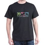 Peace, Love, Japanese Chins Dark T-Shirt