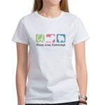 Peace, Love, Keeshonds Women's T-Shirt
