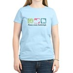 Peace, Love, Keeshonds Women's Light T-Shirt