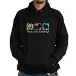 Peace, Love, Keeshonds Hoodie (dark)