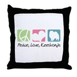 Peace, Love, Keeshonds Throw Pillow