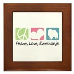 Peace, Love, Keeshonds Framed Tile
