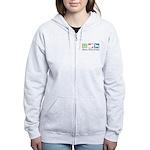 Peace, Love, Kuvasz Women's Zip Hoodie