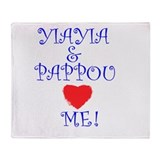 YIAYIA AND PAPPOU LOVE ME Throw Blanket