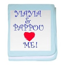 YIAYIA AND PAPPOU LOVE ME baby blanket