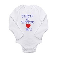 YIAYIA AND PAPPOU LOVE ME Long Sleeve Infant Bodys