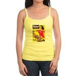 Titter Hot Pin Up Brunette Girl Jr. Spaghetti Tank