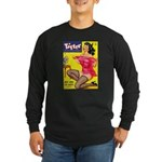 Titter Hot Pin Up Brunette Girl Long Sleeve Dark T