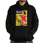 Titter Hot Pin Up Brunette Girl Hoodie (dark)