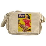 Titter Hot Pin Up Brunette Girl Messenger Bag
