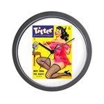 Titter Hot Pin Up Brunette Girl Wall Clock
