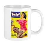 Titter Hot Pin Up Brunette Girl Mug