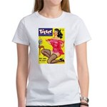 Titter Hot Pin Up Brunette Girl Women's T-Shirt
