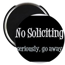 "No soliciting 2.25"" Magnet (10 pack)"