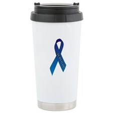 Blue Ribbon 'Survivor' Ceramic Travel Mug