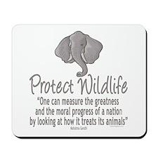 Protect Elephants Mousepad