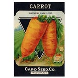Carrots antique seed packet