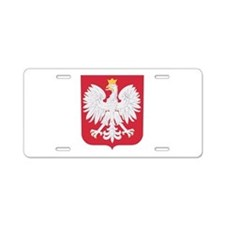 Polish Eagle Crest Aluminum License Plate