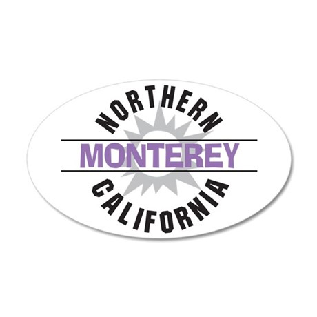 Monterey California 38.5 x 24.5 Oval Wall Peel