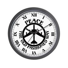 B-52 Peace the Old Fashioned Way Wall Clock