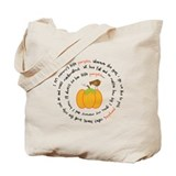Mommys Pumpkin Poem Tote Bag