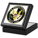 Imgrtn US Border Patrol SpAge Keepsake Box